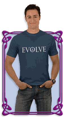 Evolve Peace Perpetua Organic Men's T-Shirt (Dark - Pacific)